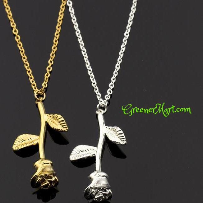 FREE Gold Flower Necklace - GreenerMart