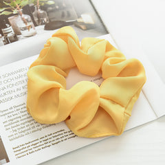 1pcs New Large Hair Bows Scrunchies Silk Ponytail Elastic Holder Hair Accessories - GreenerMart