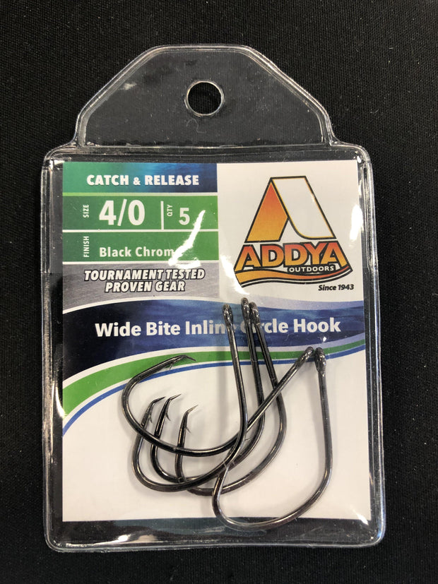 Addya Outdoors Wide Bite Inline Circle Hooks - Fish & Tackle