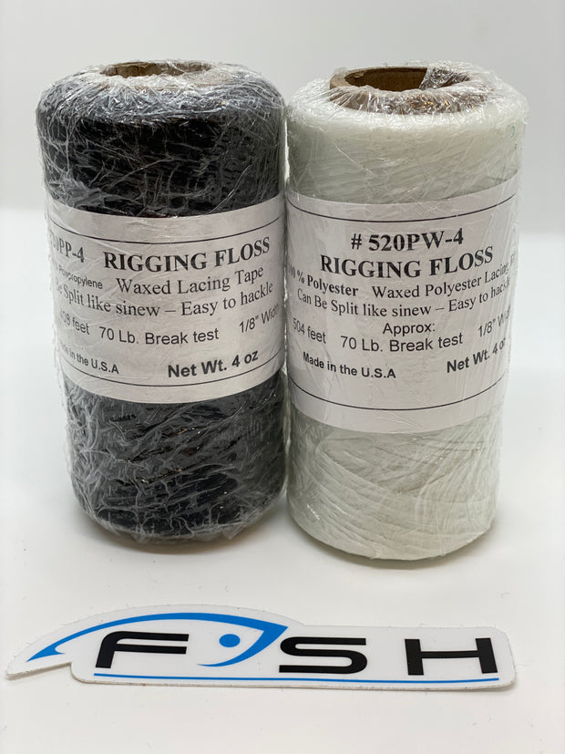 100% Polypropylene Waxed Rigging Floss (4oz. Spool)
