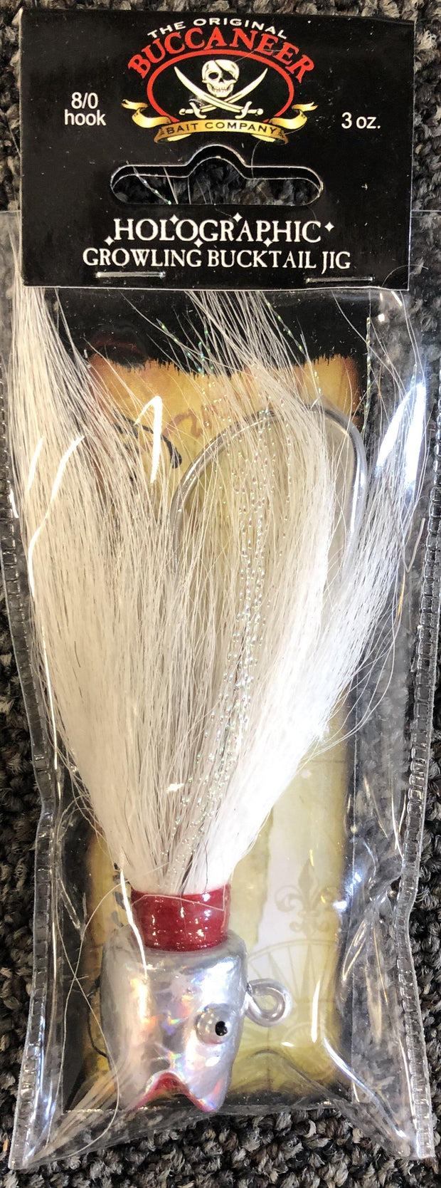 Buccaneer Holographic Growling  Bucktail Jig