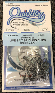 QuickRig Live Bait Bridling Clips