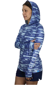 Aftco Women's Mercam Hooded Performance Shirt
