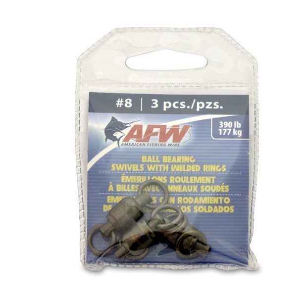 AFW Ball Bearing Swivels with Welded Rings - Fish & Tackle
