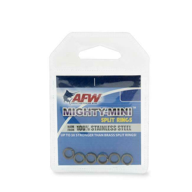 AFW Mighty Mini Stainless Split Rings - Fish & Tackle