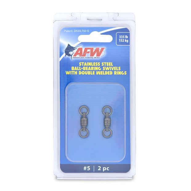 AFW Stainless Steel Ball-Bearing Swivels with Double Welded Rings - Fish & Tackle