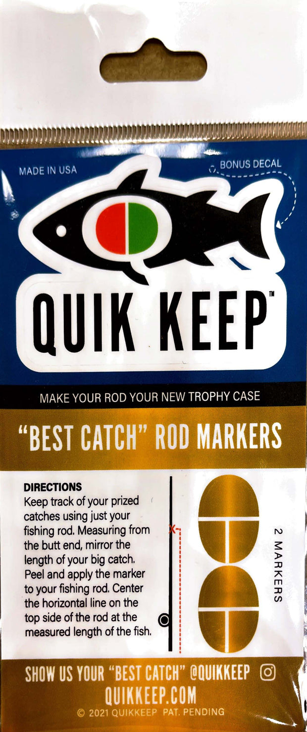 "Quik Keep - ""Best Catch"" Rod Markers"