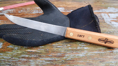 "Dexter Russell 1377 Traditional 7"" Wide Boning Carbon Steel Knife"