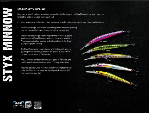 Nomad Styx Minnow 70mm 3.8g Suspending