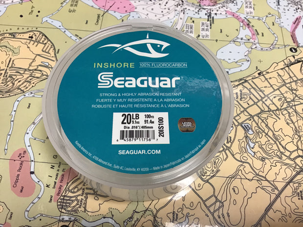 NEW Seaguar InShore Fluorocarbon 100yd Spool