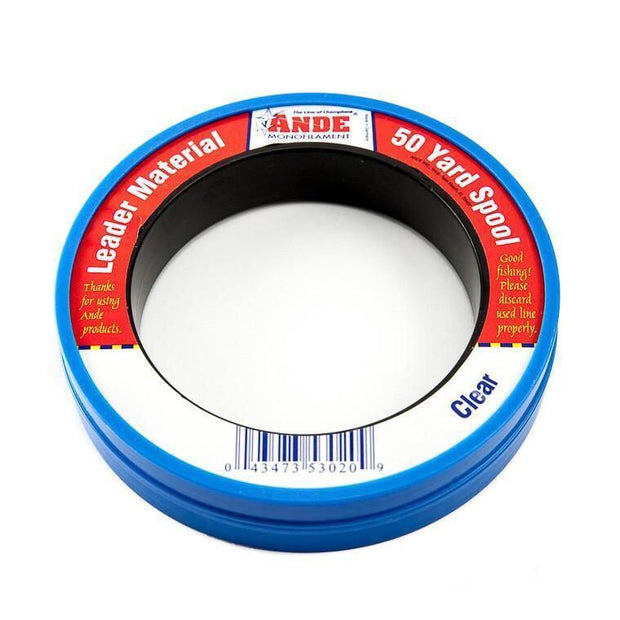 Ande Monofilament Leader Material - 50Yd Wrist Spool - Fish & Tackle