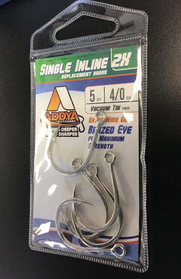 Addya Single In-line hook. Size 4/0 - Fish & Tackle