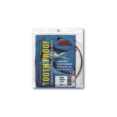 AFW Tooth Proof Stainless Steel Single Strand Leader Wire