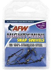 AFW Mighty-Mini 100% Stainless Steel Snap Swivels - Fish & Tackle