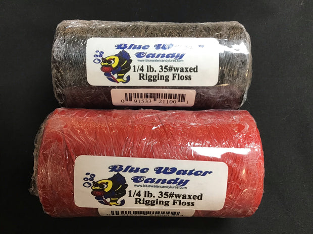 Waxed Rigging Floss 1/4lb roll 35# Red or Black