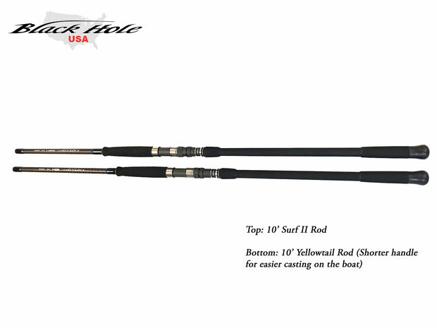 "Black Hole Cape Cod Special ""SURF II"" Spinning Rod"