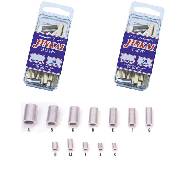 Jinkai Aluminum Crimp Sleeves - 50 Pack