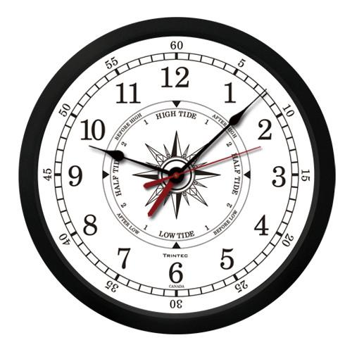 Atlantic Time & Tide Clock 10""