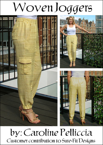 Woven Joggers by Caroline Pelliccia for Sure-Fit Designs