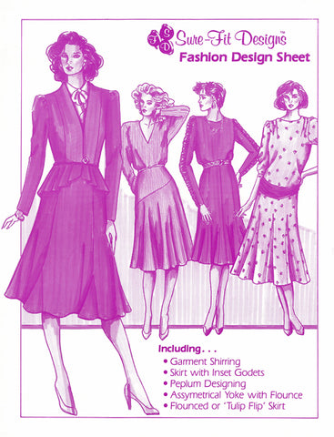 4-pg Fashion Design Sheet