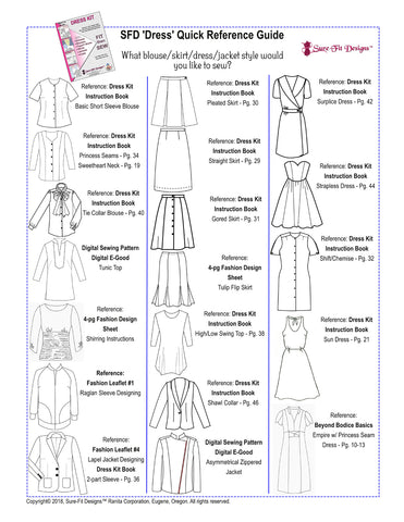 SFD Dress Kit Styles Quick Reference Guide