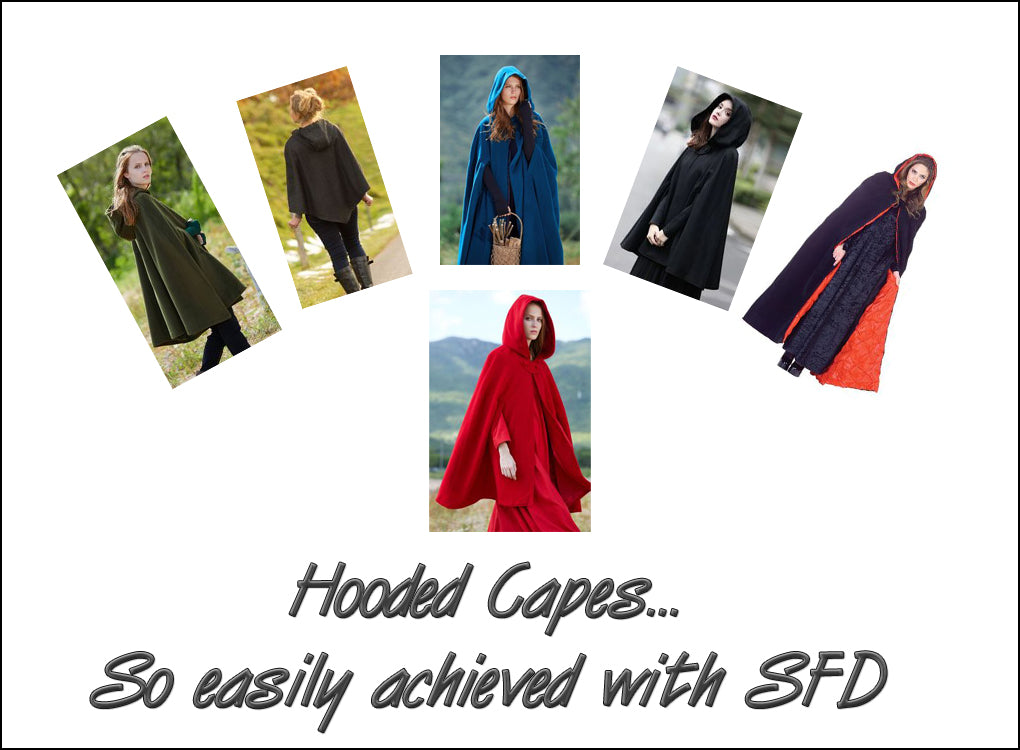 Ready to wear hooded capes