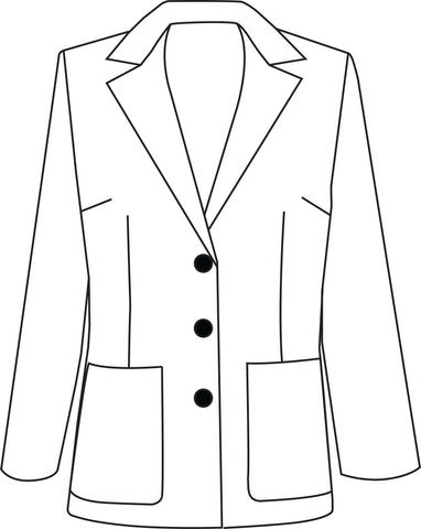 Lapel Jacket Line art