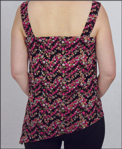 Tank Top: Diagonal Hem Back View