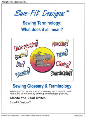 Sure-Fit Designs Sewing Terminology Glossary