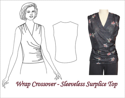 Wrap Surplice Crossover Top by Sure-Fit Designs