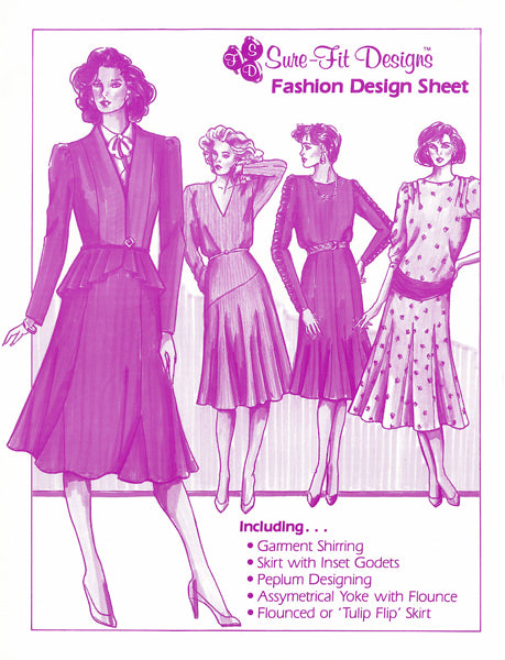 4-pg Fashion Design Sheet - 5 Patterns