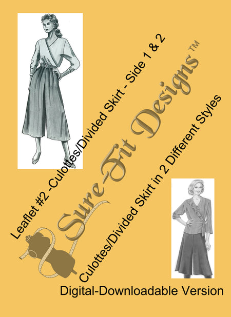 Fashion Leaflet #8 Easy Wrap Pants & Stirrup Pants - Digital Version