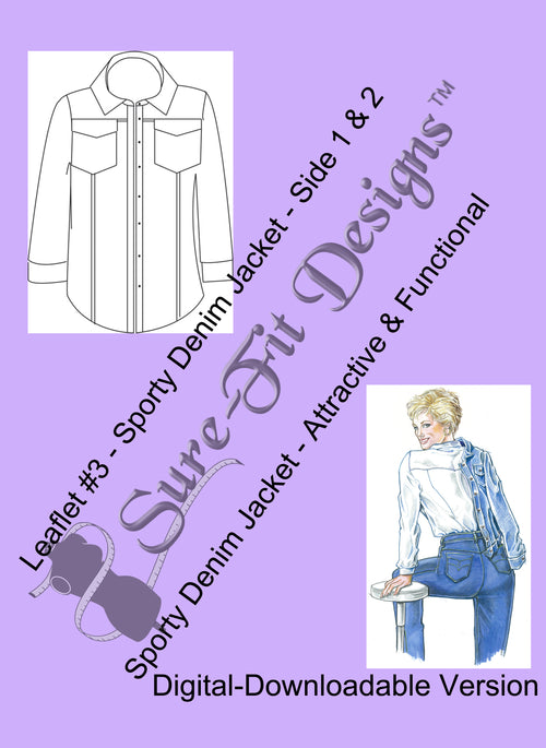 Fashion Leaflet #3 Sporty Denim Jacket - Digital Version