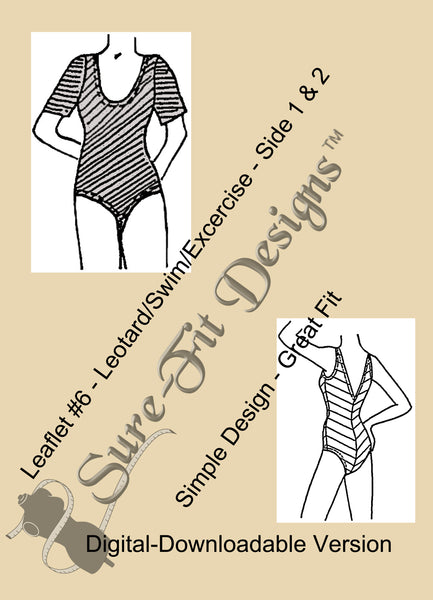 Fashion Leaflet #6 Leotard/Swim/Exercise - Digital Version