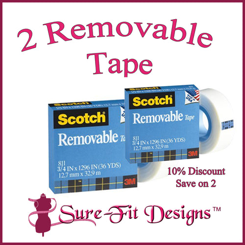 2 Rolls Removable Tape