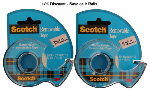 "2x3/4"" Removable Tape with Dispenser-Save 10%"