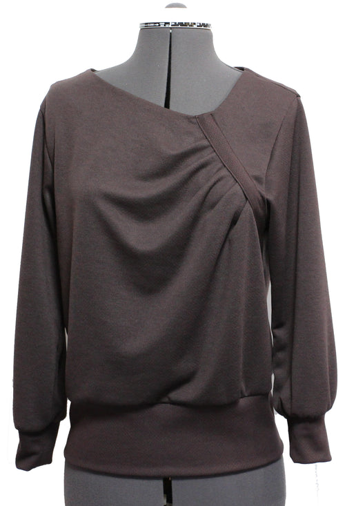 Asymmetrical Pleated Pull-Over