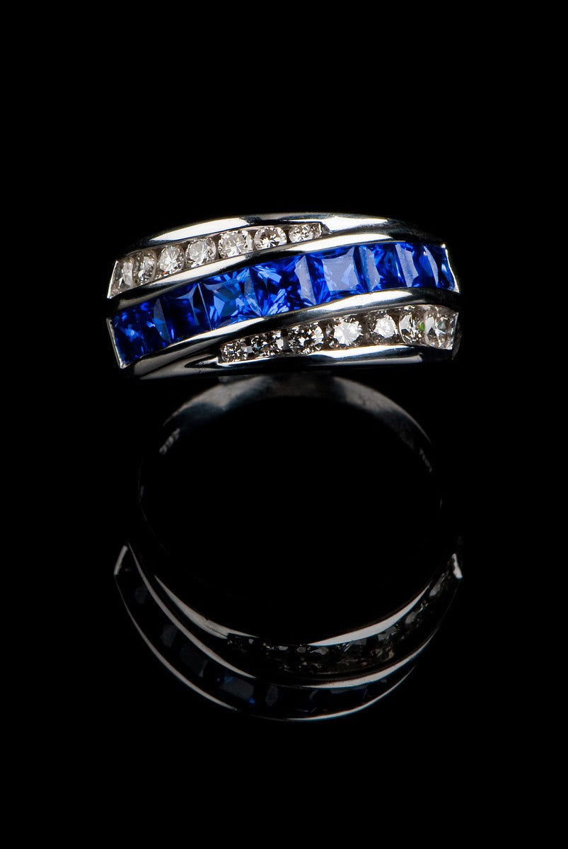 Sapphire and Diamond Women's Ring SR-603