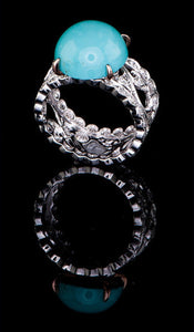 Turquoise Diamond Ring TR-604
