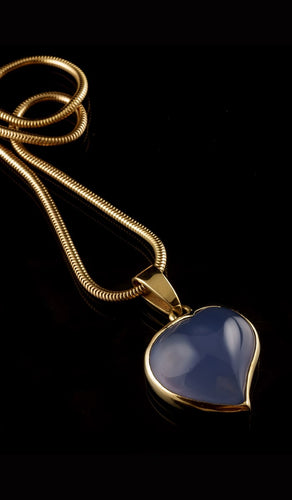 Blue Chalcedony Necklace EBN-401