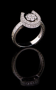 Diamond Horse Shoe Ring DR-625