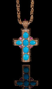 Turquoise and Sapphire Cross TN-400