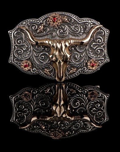 Long Horn Belt Buckle SBU-201