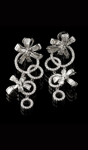 White Gold and Diamond Earrings DE-300