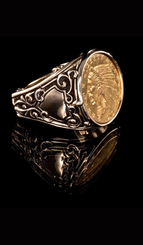 1910 Indian Head Coin Ring CR-603