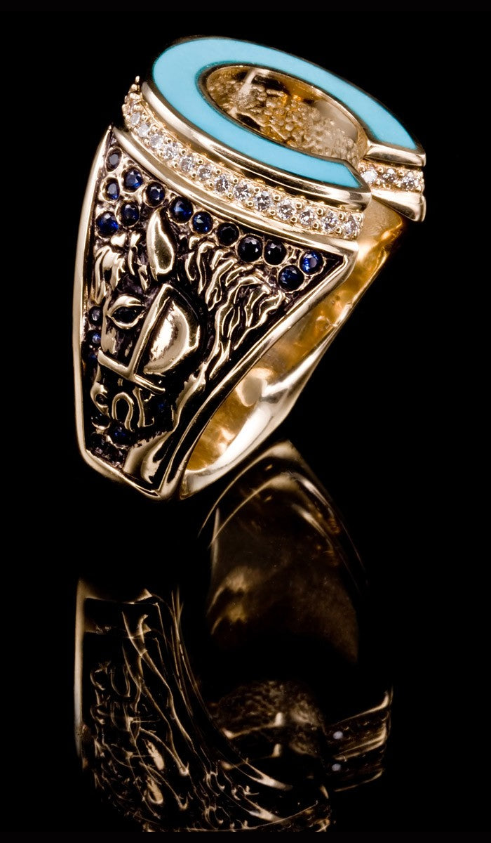 Turquoise Horse Shoe Ring TR-602