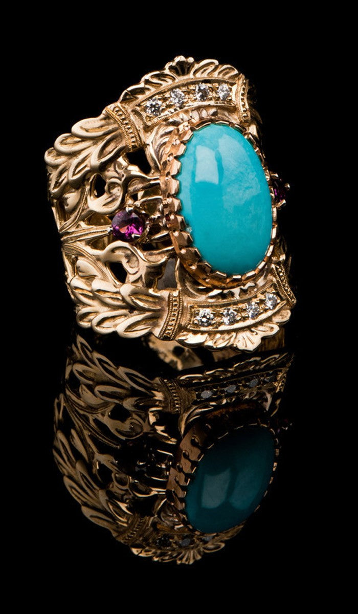Antique style Turquoise Ring TR-605