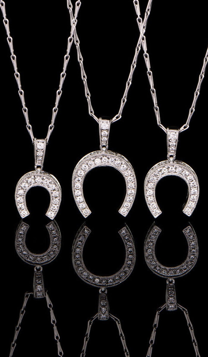 Diamond Horse Shoe Pendants DP-503