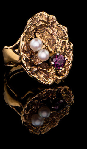 Free Formed Cultured Pearl Ring PR-609