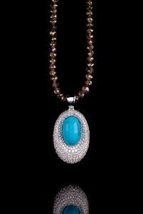 Turquoise and Diamond Necklace TN-401